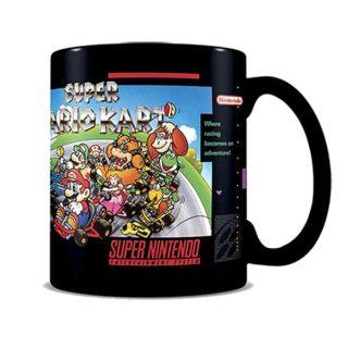 Super Nintendo: Tasse / Kaffeetasse schwarz - Super Mario Kart