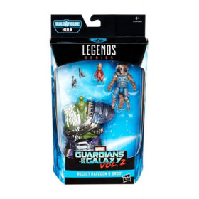 "Marvel Legends: Guardians of The Galaxy ""Hulk"" - Rocket Raccoon & Groot - Actionfigur - E1369 - 15 cm"