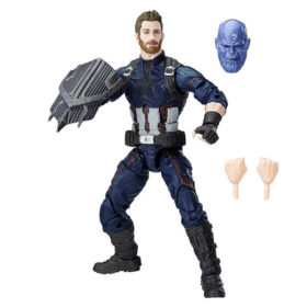 "Marvel Legends: Avengers ""Thanos"" - Captain America - Actionfigur - E1387 - 15 cm"
