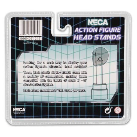 NECA Ständer: für Actionfiguren-Köpfe schwarz - 3 Stück