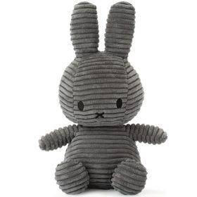 Miffy: Plüschfigur - Kaninchen Kordsamt grau - 23 cm