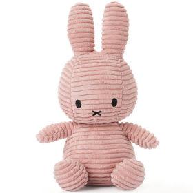 Miffy: Plüschfigur - Kaninchen Kordsamt rosa - 23 cm