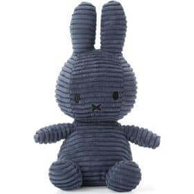 Miffy: Plüschfigur - Kaninchen Kordsamt blau - 23 cm