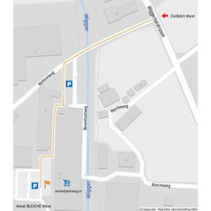 Anfahrt Plan ActionSpielzeug.ch