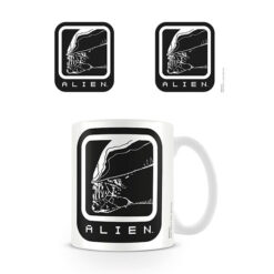 Alien: Tasse / Kaffeetasse weiss - Alien Icon
