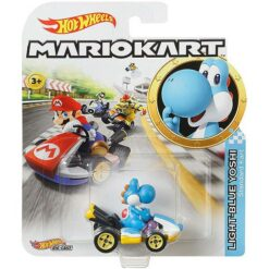 "Hot Wheels: Nintendo Mario Kart ""Light-Blue Yoshi"" Masstab 1:64 - Die-Cast - GBG35"