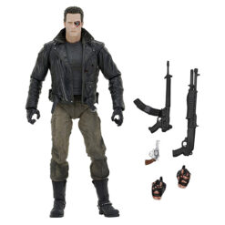 Terminator: Police Station Assault - T-800 (Motorcycle Jacket) - Ultimate Actionfigur - 18 cm