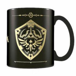 Nintendo: Legend of Zelda Foil Tasse / Kaffeetasse schwarz - Hylia-Schild