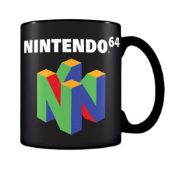 Nintendo: Tasse / Kaffeetasse schwarz - N64 Logo