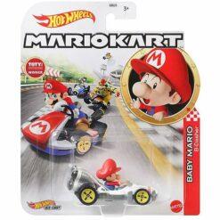 "Hot Wheels: Nintendo Mario Kart ""Baby Mario"" Masstab 1:64 - Die-Cast - GRN12"