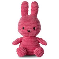 Miffy: Plüschfigur - Kaninchen Kordsamt pink - 23 cm