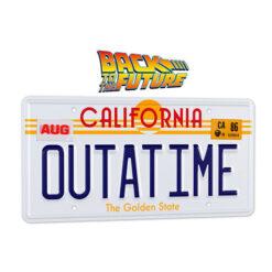 Back to the Future: DeLorean - Nummernschild Outatime - Replik 1/1