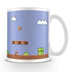 Super Mario Bros.: Tasse / Kaffeetasse weiss - Retro Title