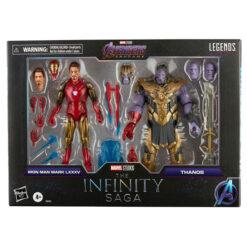 Marvel Legends: The Infinity Saga - Iron Man & Thanos (Endgame) - Actionfigur 2-Pack) - F0192 - 15 cm